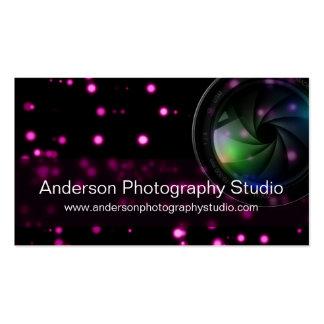 Bokeh u. Zoomobjektiv-Fotograf-Visitenkarte D15 Visitenkarten