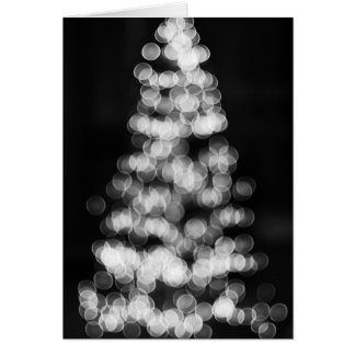 Bokeh Weihnachtsbaum Karte