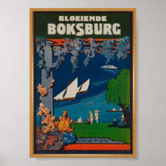 Boksburg Südafrika Vintages Reise-Plakat Poster