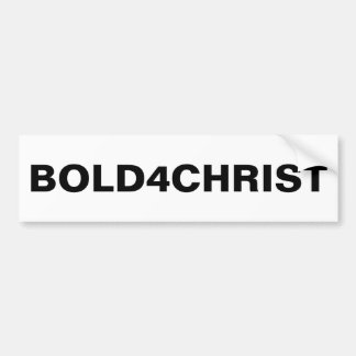 """Bold4Christ"" Autoaufkleber"