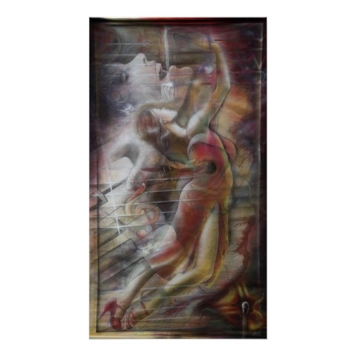 Bolero, Boléro print poster druck women painting