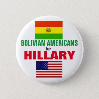 Bolivianische Amerikaner für Hillary 2016 Runder Button 5,1 Cm
