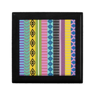Bolivianische Streifen Schmuckschachtel