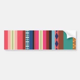 Bolivianisches Muster Autoaufkleber
