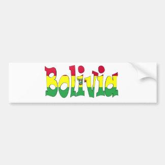 Bolivien-Flagge Autoaufkleber