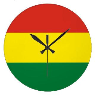 Bolivien-Flagge Große Wanduhr