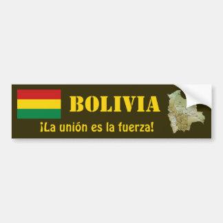 Bolivien-Flagge + Karten-Autoaufkleber Autoaufkleber