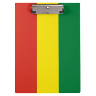 Bolivien-Flagge Klemmbrett