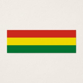 Bolivien-Flagge Mini Visitenkarte