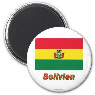 Bolivien Flagge MIT Namen