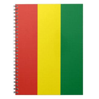Bolivien-Flagge Notizblock