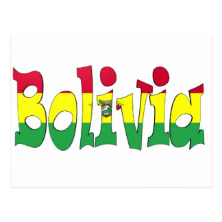 Bolivien-Flagge Postkarte