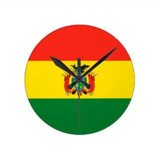 Bolivien-Flagge Runde Wanduhr
