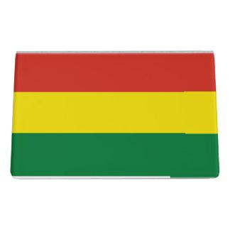 Bolivien-Flagge Schreibtisch-Visitenkartenhalter