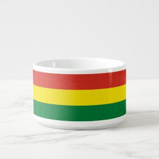 Bolivien-Flagge Schüssel