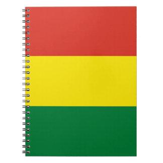 Bolivien-Flagge Spiral Notizblock