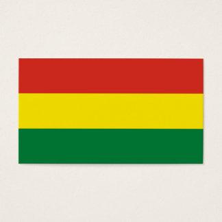 Bolivien-Flagge Visitenkarte