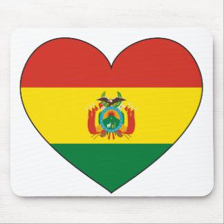 Bolivien-Flaggen-Herz Mousepad