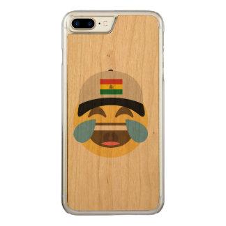 Bolivien-Hut, der Emoji lacht Carved iPhone 7 Plus Hülle