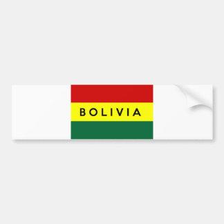 Bolivien-Landesflaggetextname Autoaufkleber