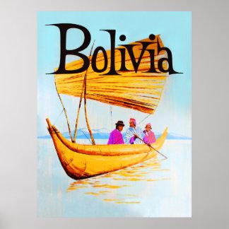 Bolivien-Reiseplakat Poster