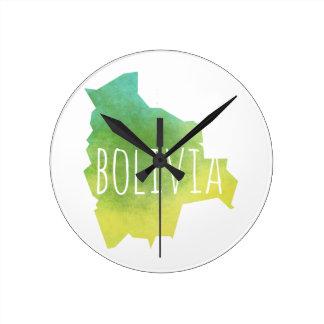 Bolivien Runde Wanduhr