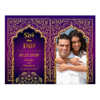 Bollywood arabische Nächte Save the Date Postkarte