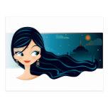 Bollywood Mädchen Postkarte