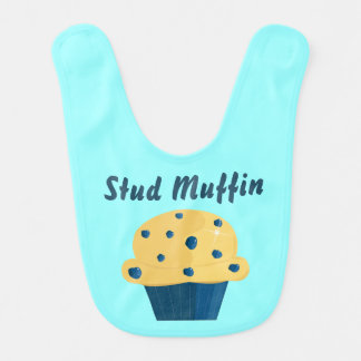 Bolzen-Muffin-Blaubeermuffin-Baby-Schellfisch Lätzchen