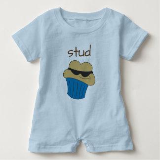 Bolzen-Muffin-blauer Baby-Spielanzug Baby Strampler