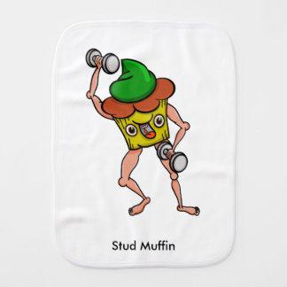 Bolzen-Muffin, das mit Dumbbells aufwirft Baby Spucktuch