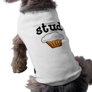 Bolzen-Muffin, niedliches lustiges gebackenes gute Ärmelfreies Hunde-Shirt