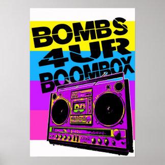 Bombardiert 4UR Boombox Plakat