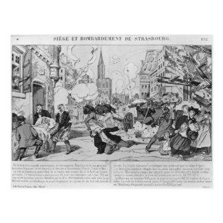 Bombardierung und Belagerung von Straßburg Postkarte