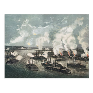 Bombardierung und Gefangennahme von Insel No.10 Postkarte