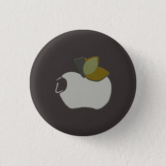 Bombay-Grau Apple Runder Button 2,5 Cm