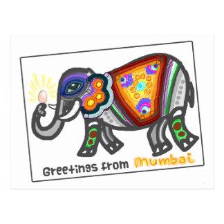 Bombay-Grüße Postkarte