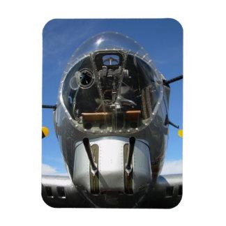Bomber-Drehkopf-SitzFoto der Nasen-B-17 Flexibler Magnet