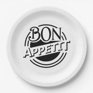 Bon Appetit Entwurf Pappteller