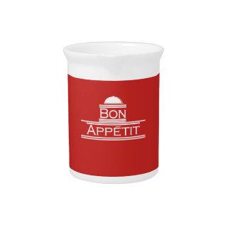Bon Appetit-Genießen Ihre Mahlzeit Getränke Pitcher