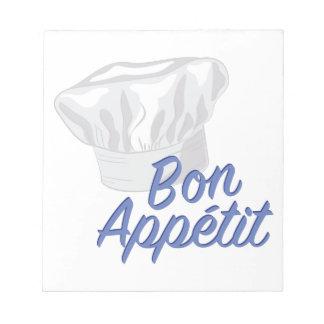 Bon Appetit Notizblock