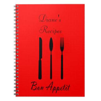 Bon Appetit Tabellen-Einstellungs-Rezept-Notizbuch Spiral Notizblock