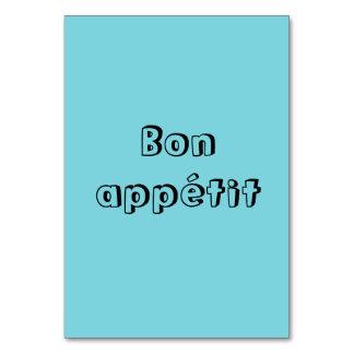 Bon appetit Tabellenkarten Karte