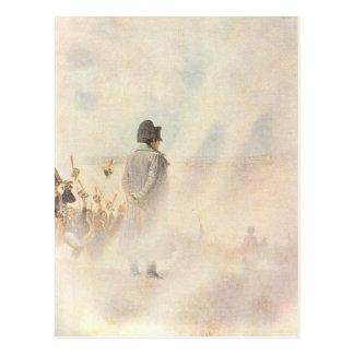 Bonaparte vor Moskau Postkarte