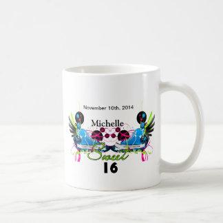Bonbon 16 Achtzigerjahre Neonturnschuh-Namensdatum Kaffeetasse
