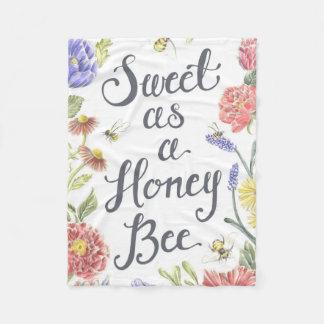 Bonbon als Honig-Bienen-Fleece-Decke Fleecedecke