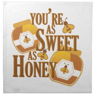 Bonbon als Honig Serviette