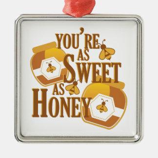 Bonbon als Honig Silbernes Ornament