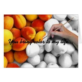 Bonbon als Pfirsiche Karte