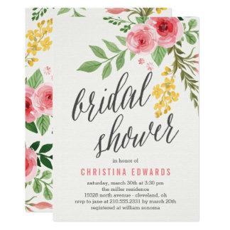 Bonbon blüht Brautparty-Einladung 12,7 X 17,8 Cm Einladungskarte